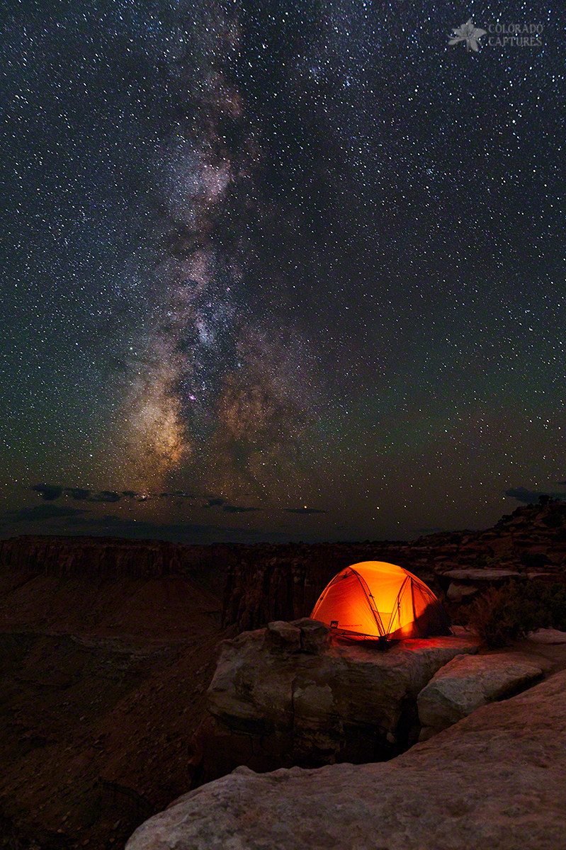 Starlight Camping On The Canyon Edge